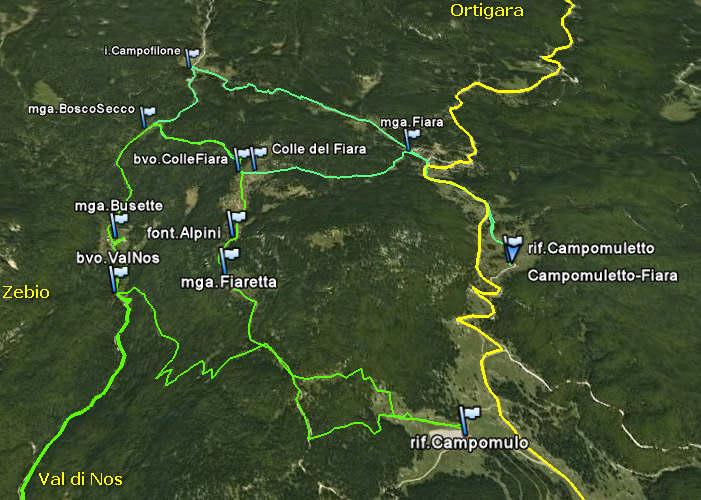 Altopiano Asiago: cima Portule Kempel Renzola, monte ...