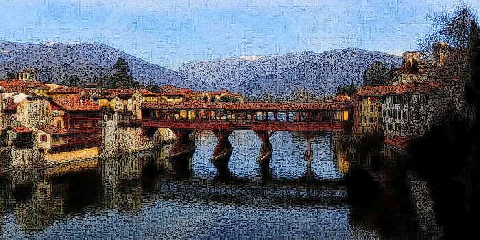 Bassano del grappa ponte vecchio noto come ponte degli for Cabine sul bordo del fiume