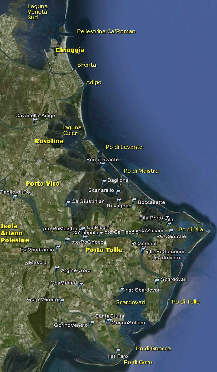 Delta Del Po Polesine Foce Adige Laguna Di Veneta Mare
