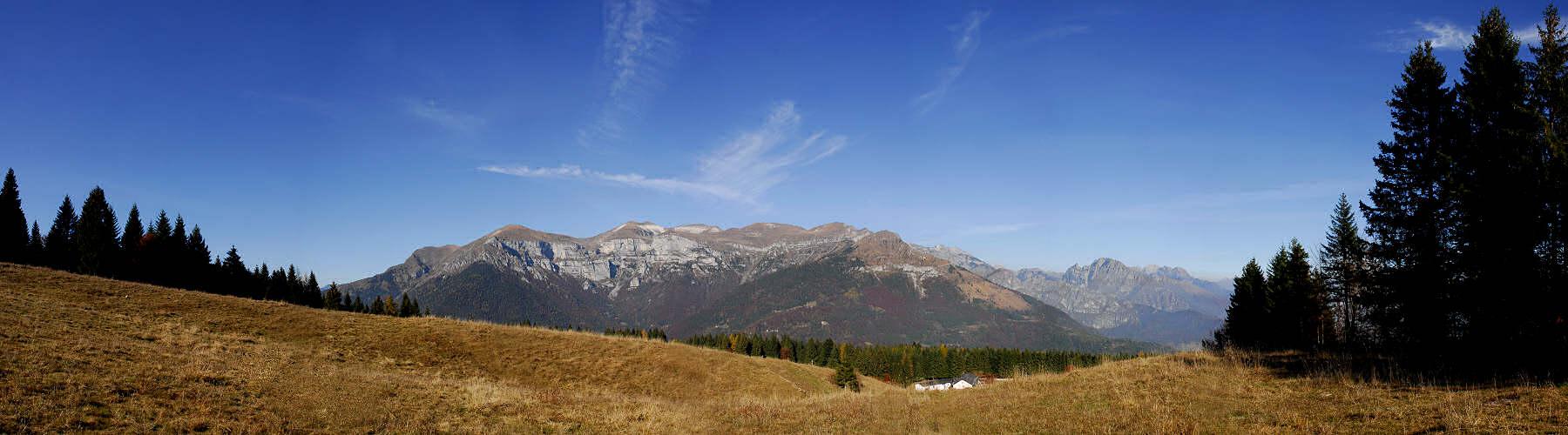 Monte Avena panoramica verso le Vette Feltrine