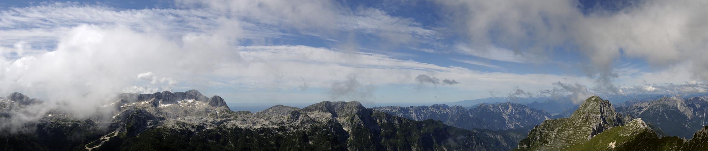 friuli monte canin alpi giulie   foto panoramica