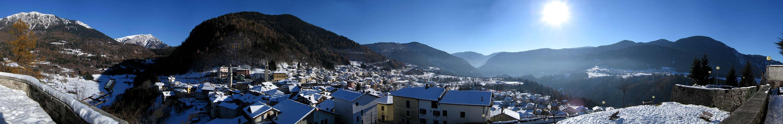 altopiano Tesino - Lagorai : panoramica invernale su ...