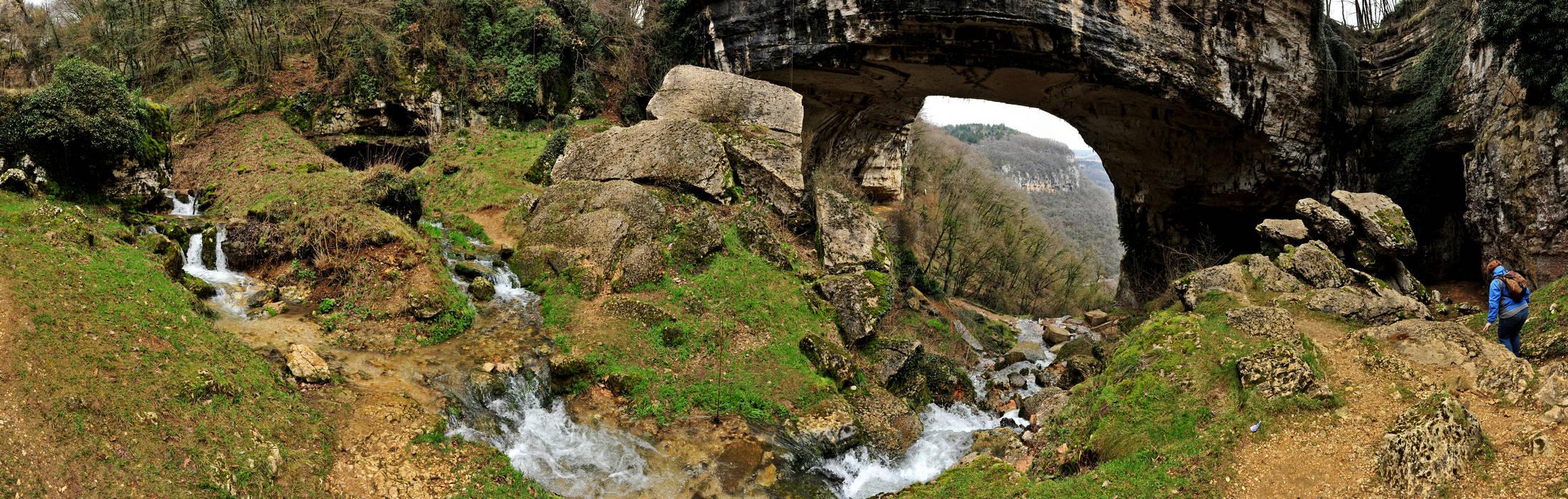 ponte veja a sant anna d alfaedo nel parco naturale