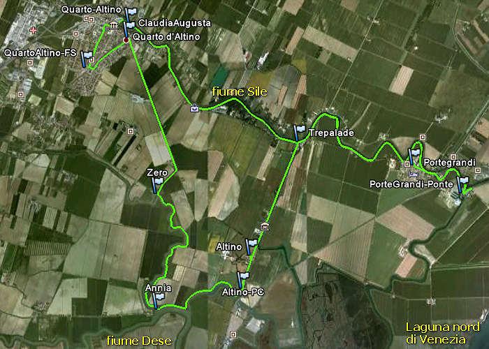 Quarto d 39 altino pista ciclabile fiume zero dese via for Visma arredo quarto d altino