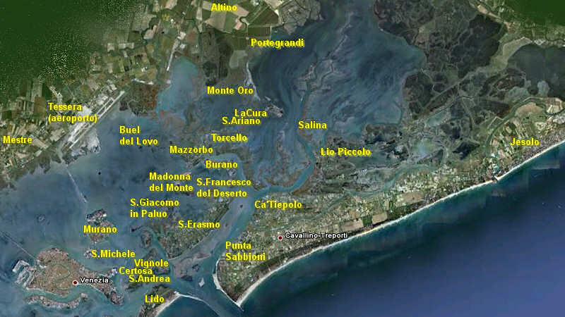 Isole Della Laguna Veneta Venezia Venesia Laguna Veneta