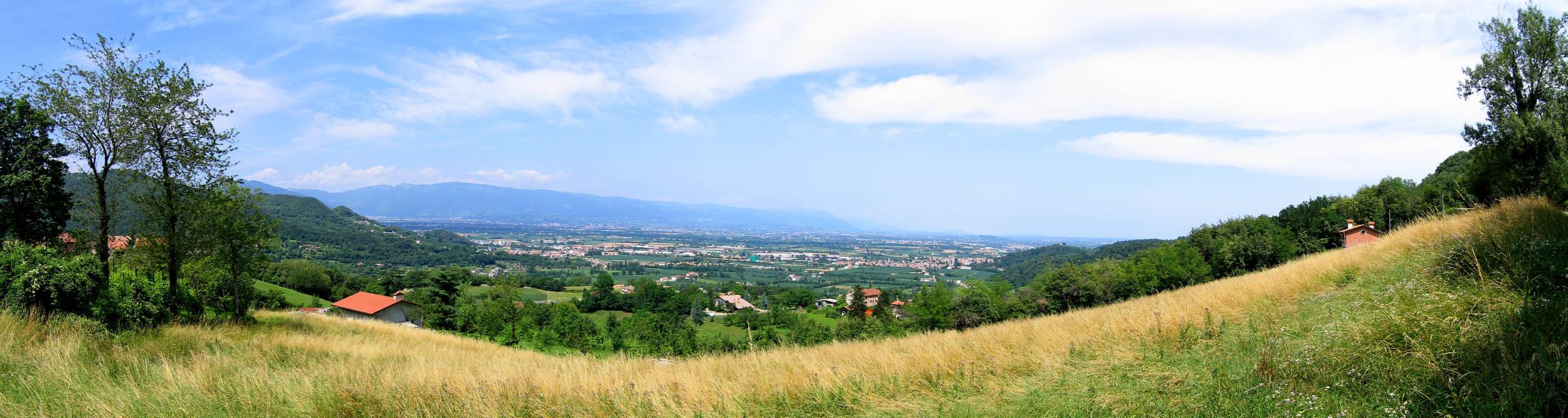 Vicenza Isola Vicentina Da Torreselle Panoramica Sulla Pianura Fotografia Panoramica